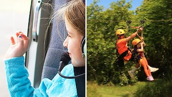 Family Friendly Helicopter Ride & Ziplining Tour