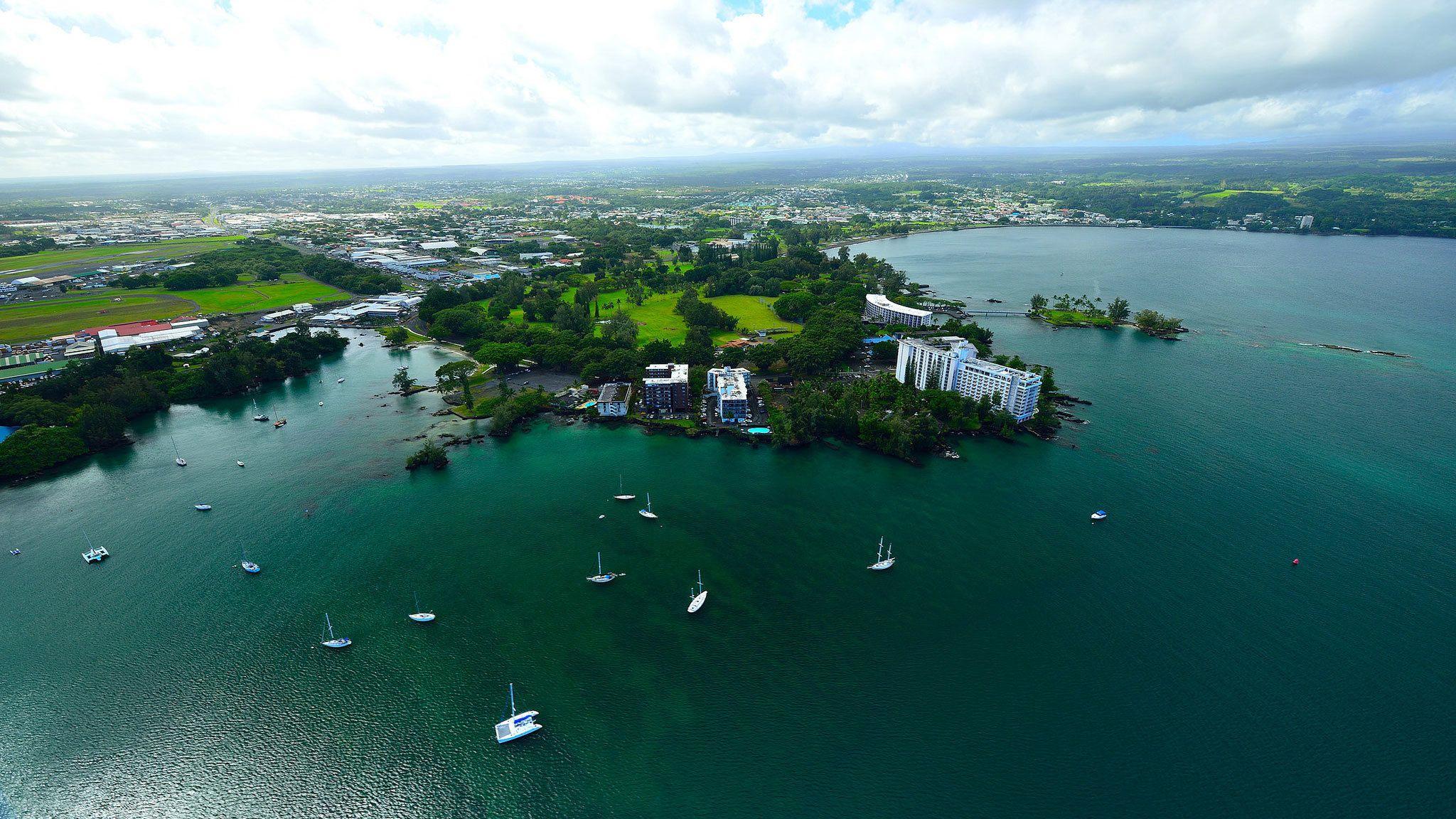 Aerial view of Big Island