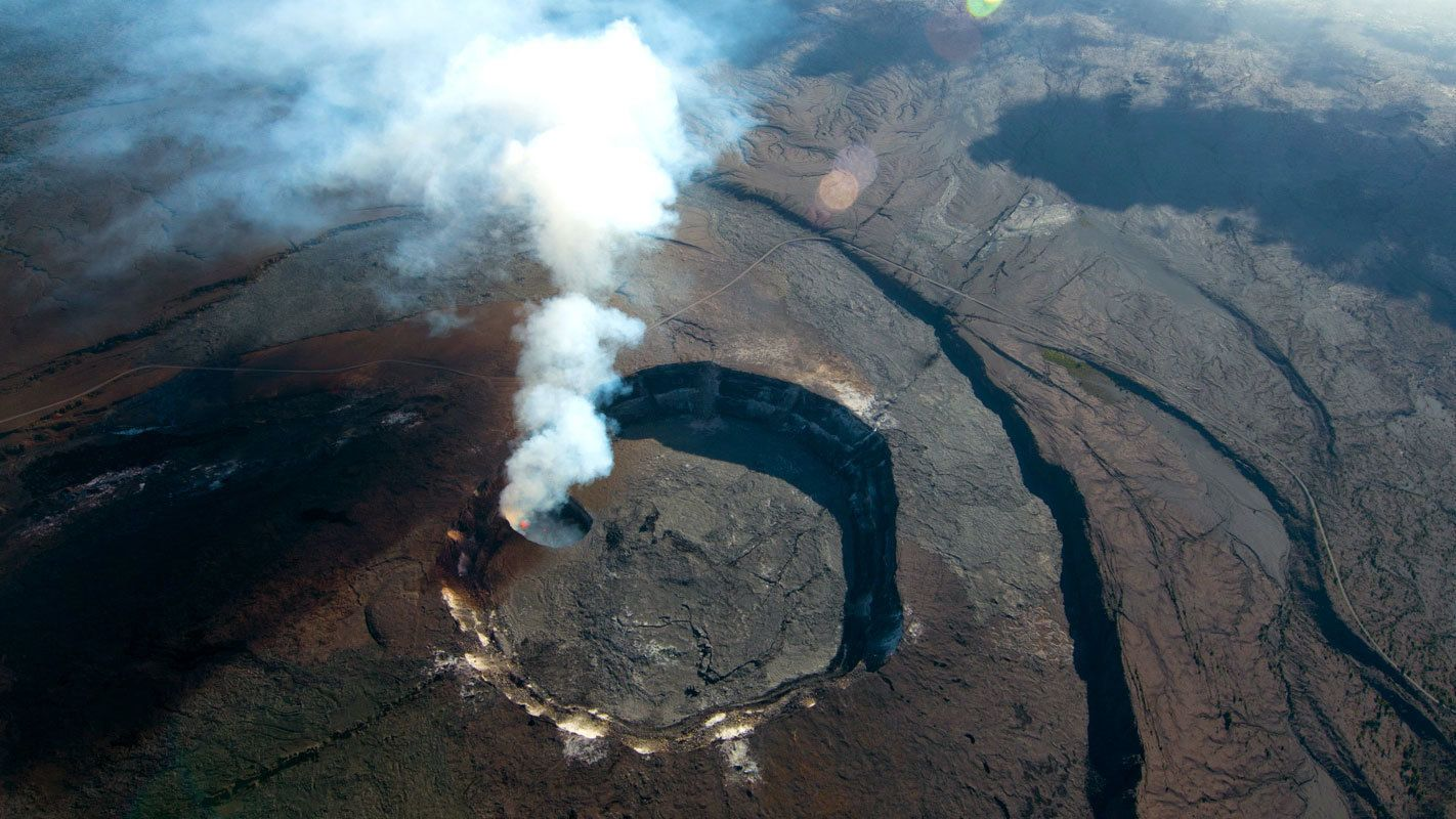 volcano view from above on Volcano by Air and Land in Hawaii