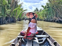 Mekong Delta Tour W/ Vinh Trang Pagoda & Row-Boat with Lunch