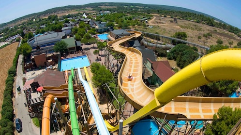 Aerial view of waterpark on Mallorca Island