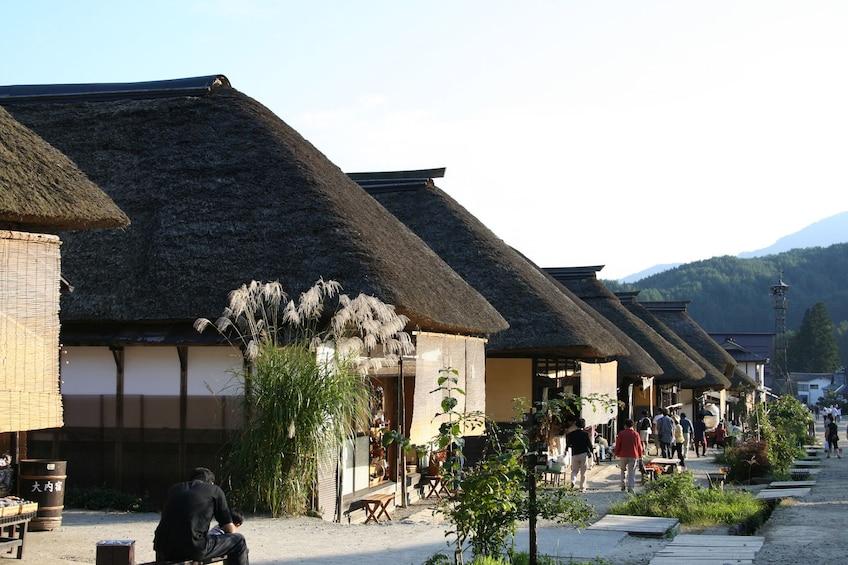 Ouchi-juku trip by Aizu Railway & Retro Bus Saruyu