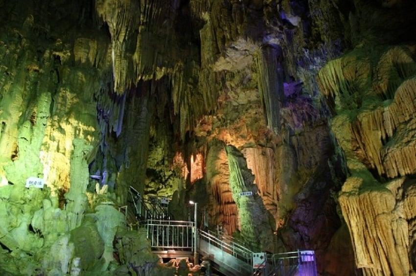 Abukuma Caves & Inawashiro Glass Museum