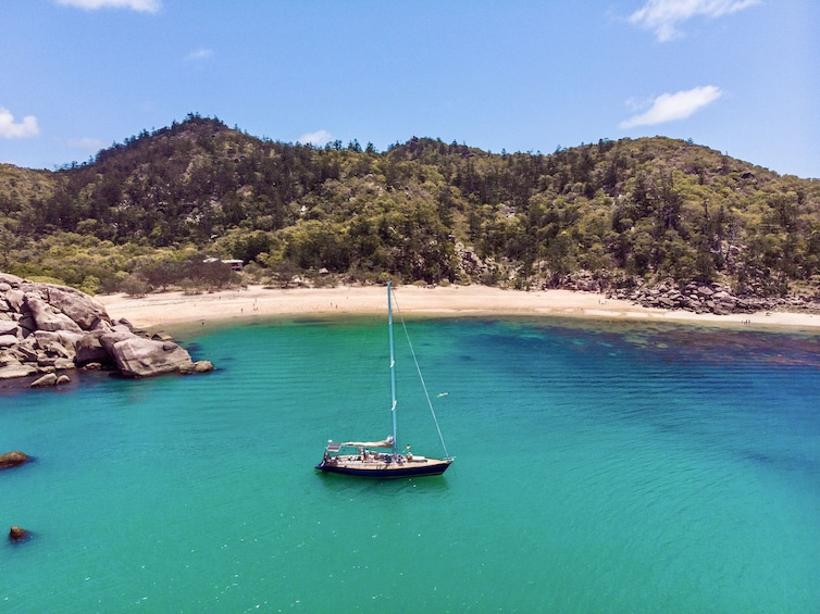 Helicopter and Magnetic Island Sailing