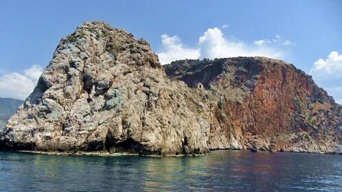 A rocky island in the Mediterranean
