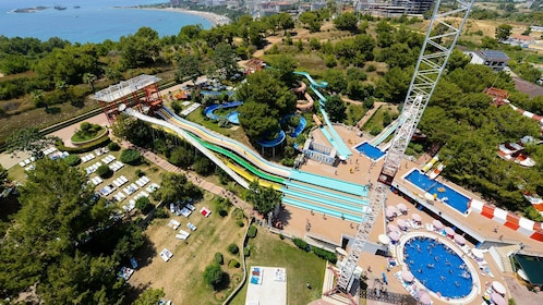 Aerial view of Aqua Park from Alanya