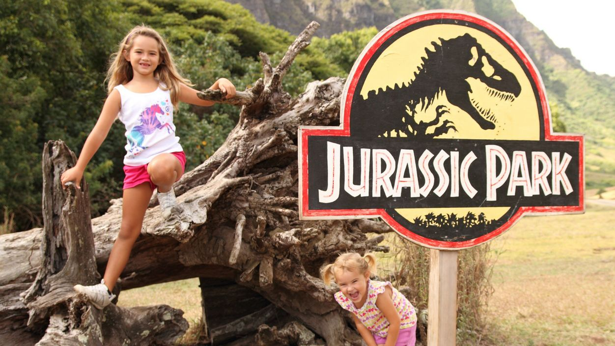 Girls by Jurassic Park site sign