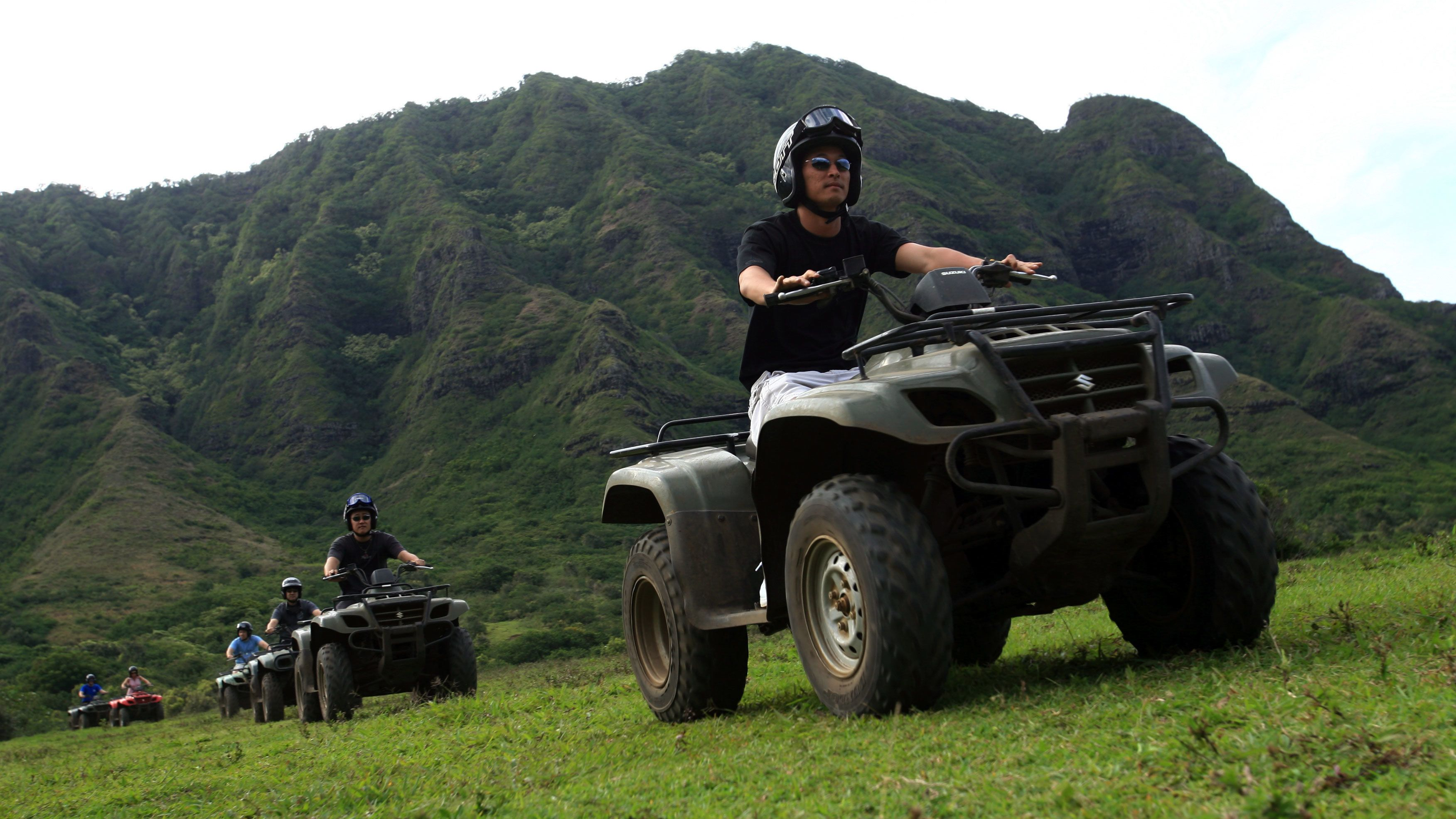 ATV riders in convoy