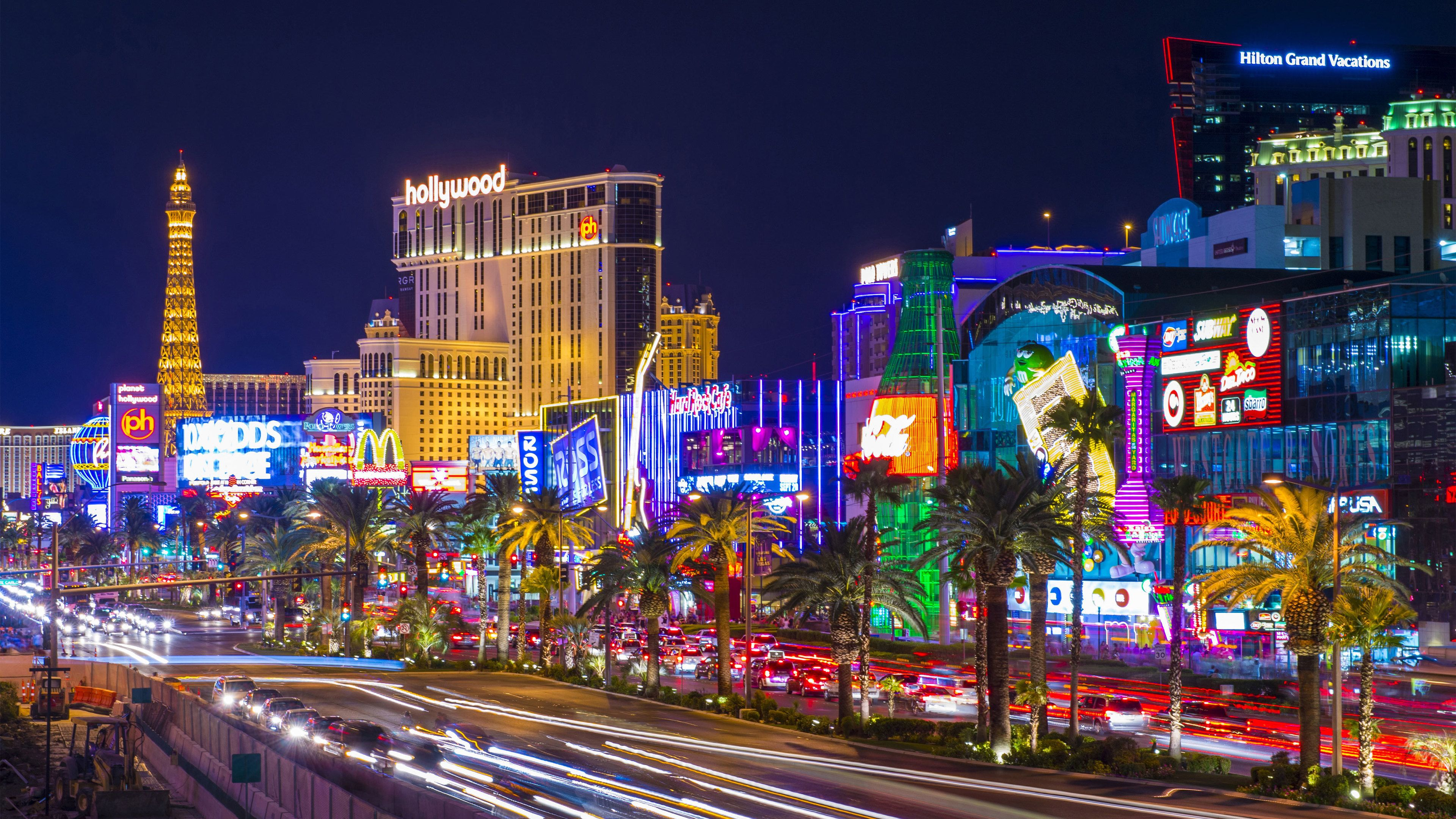 Cityscape of Las Vegas at night