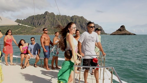 Scenic tour of Kaneohe Bay on a catamaran