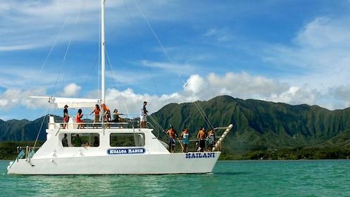 Take a boat ride on the Kailani to the secret island beach at Kualoa