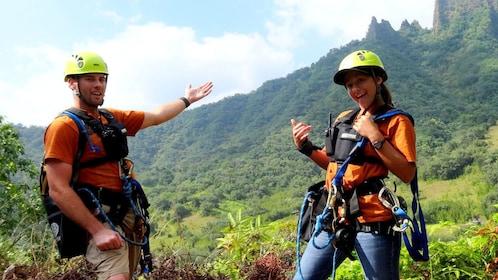 Enjoy the majestic views of Ka'a'awa Valley of Oahu