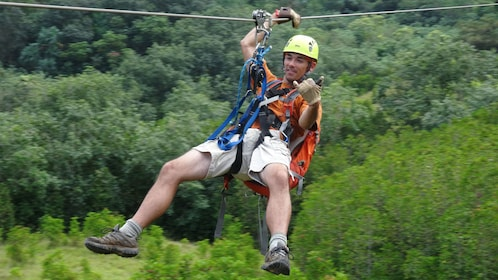 Have fun and enjoy the ride ziplining from Kualoa Ranch