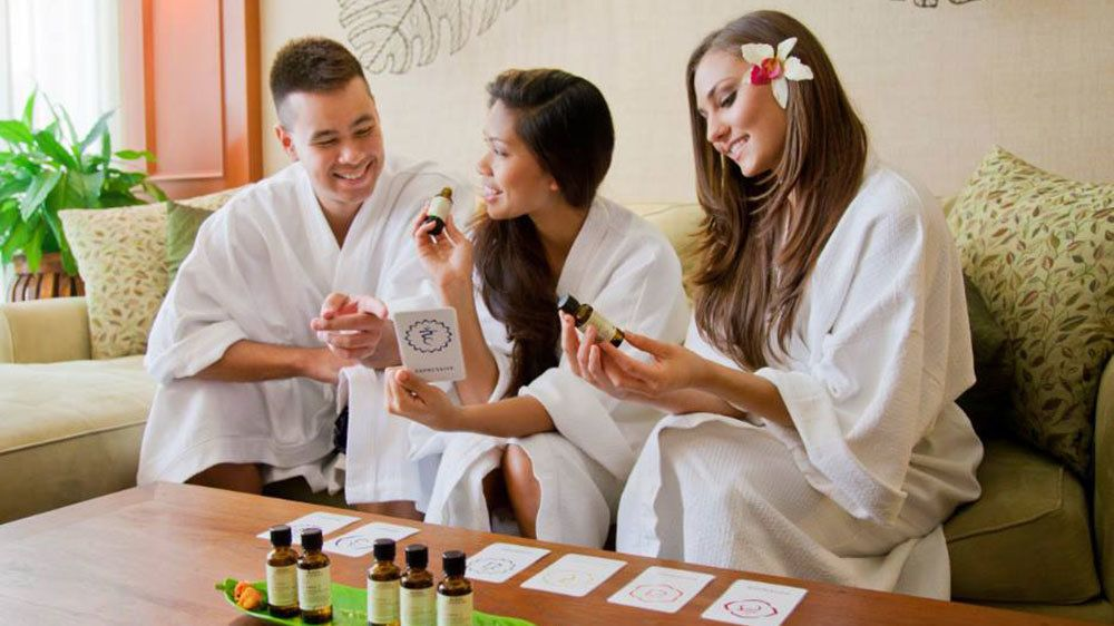 Rejuvenate with spa oils and lotion treatments at the Spa