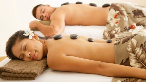 Experience a soothing hot stone massage at Spa in Oahu