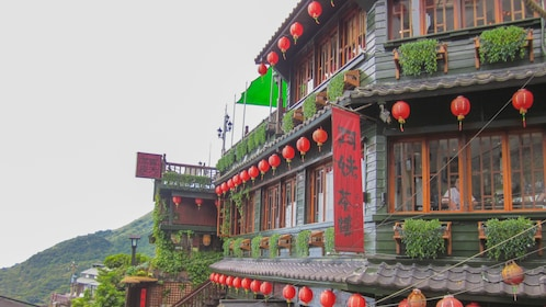 Angled view of traditional building in Jiufen.