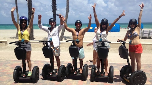 Segway riding group on Hollywood Beach in Florida