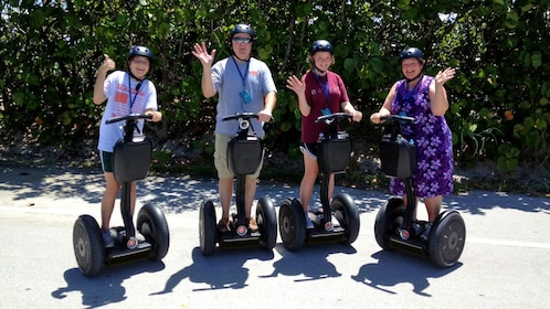 family riding segways together in Florida