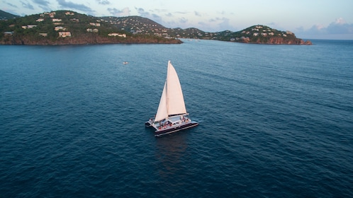A sailboat on the water in the Caribbean