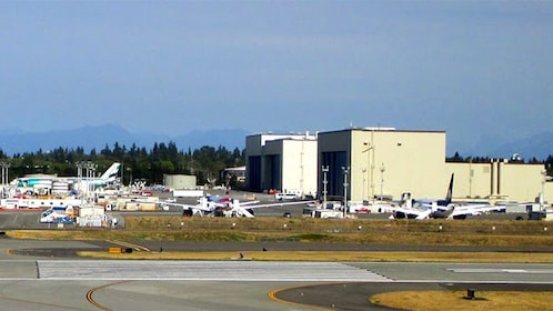 View outside the Boeing Factory in Seattle