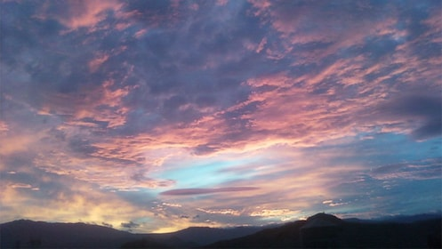 Colorful clouds at sunset in Palm Springs