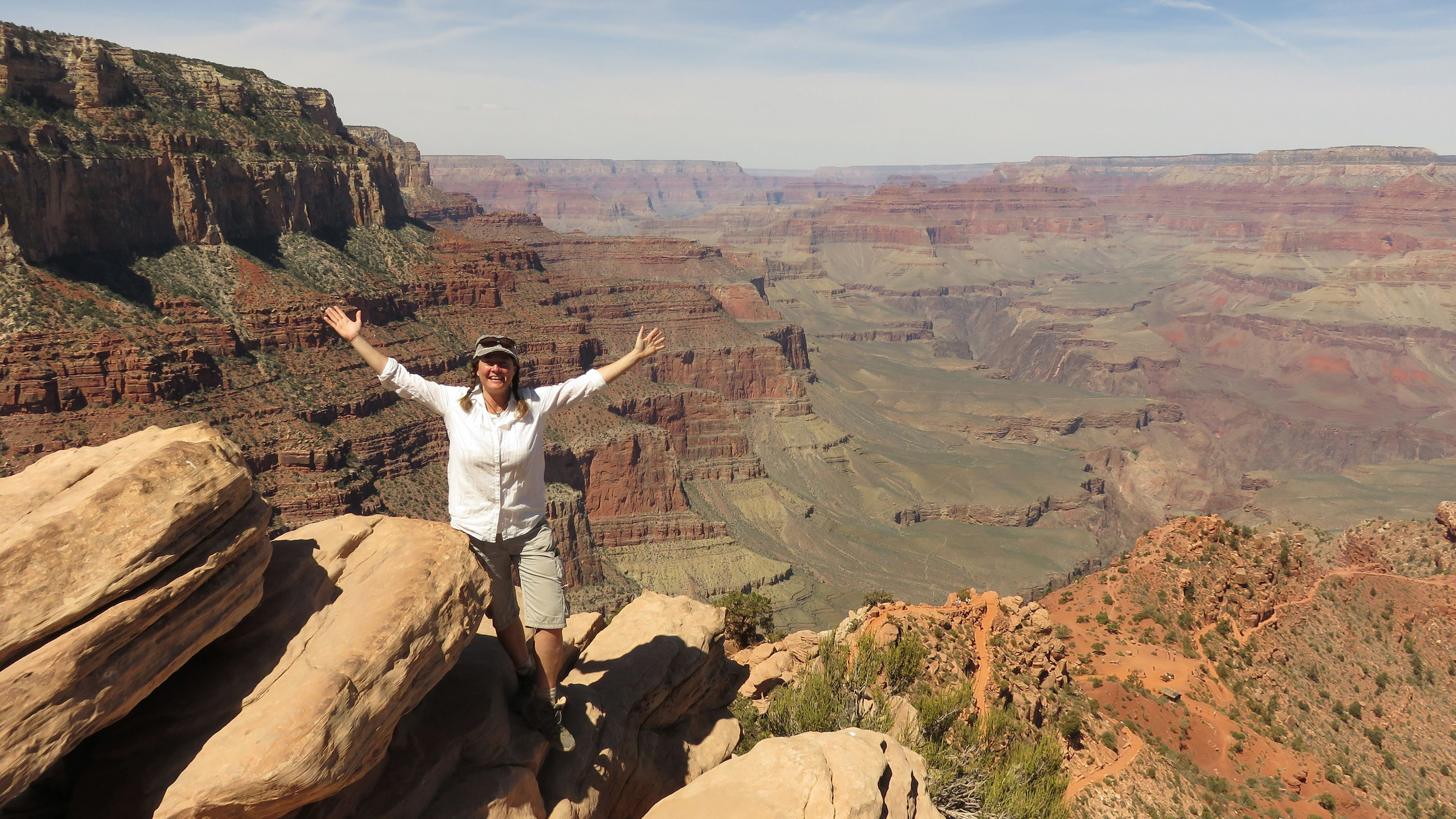 Witness the vastness of the Grand Canyon from the South Rim