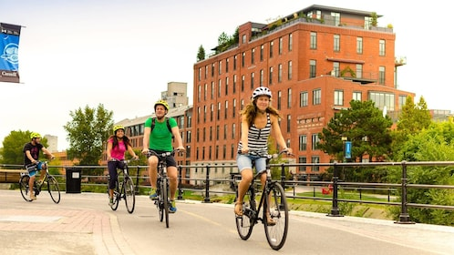 Group on a bike tour in Montreal, QC, CAN