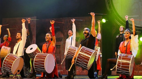 Drummers at the Fire of Anatolia show in Turkey