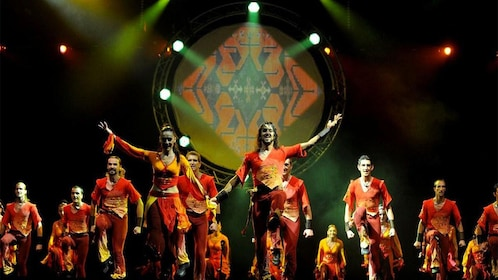 Performers on stage at the Fire of Anatolia show in Turkey