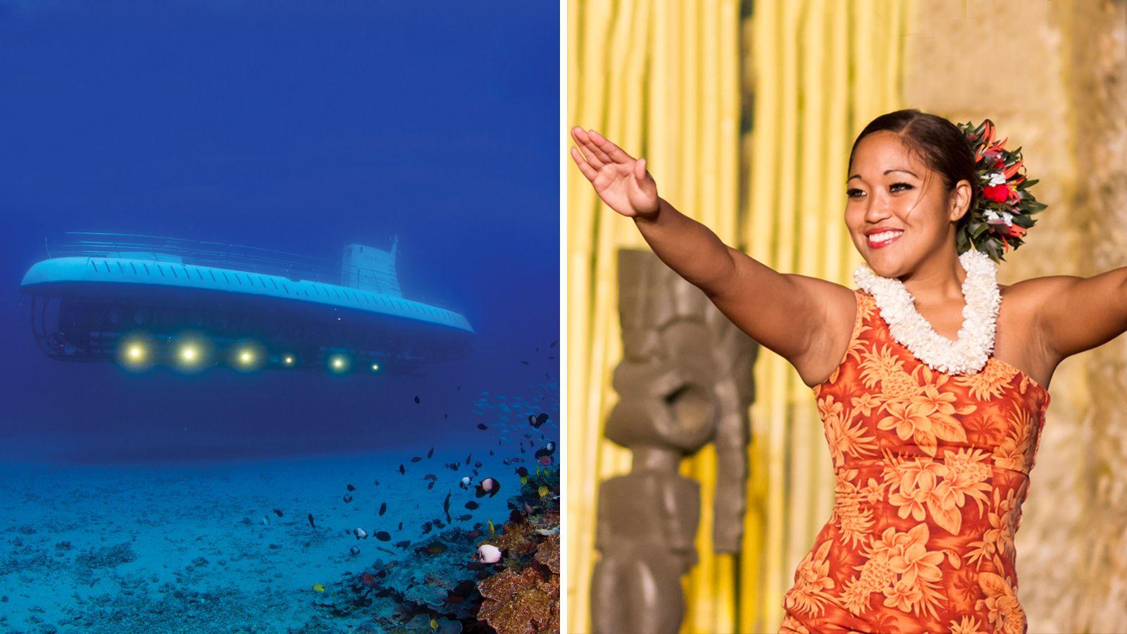 Royal Lahaina Luau & Submarine Combo
