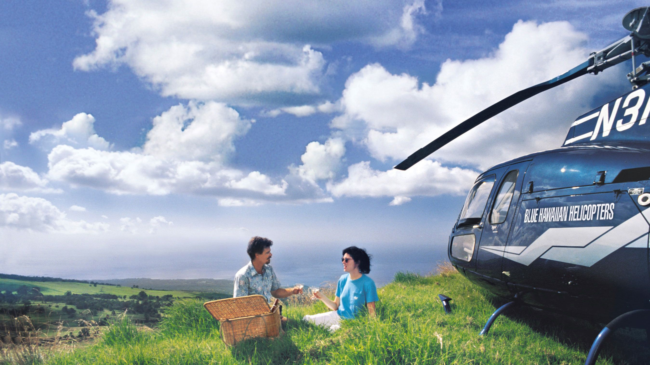 After the helicopter ride, land in a meadow to enjoy an afternoon picnic