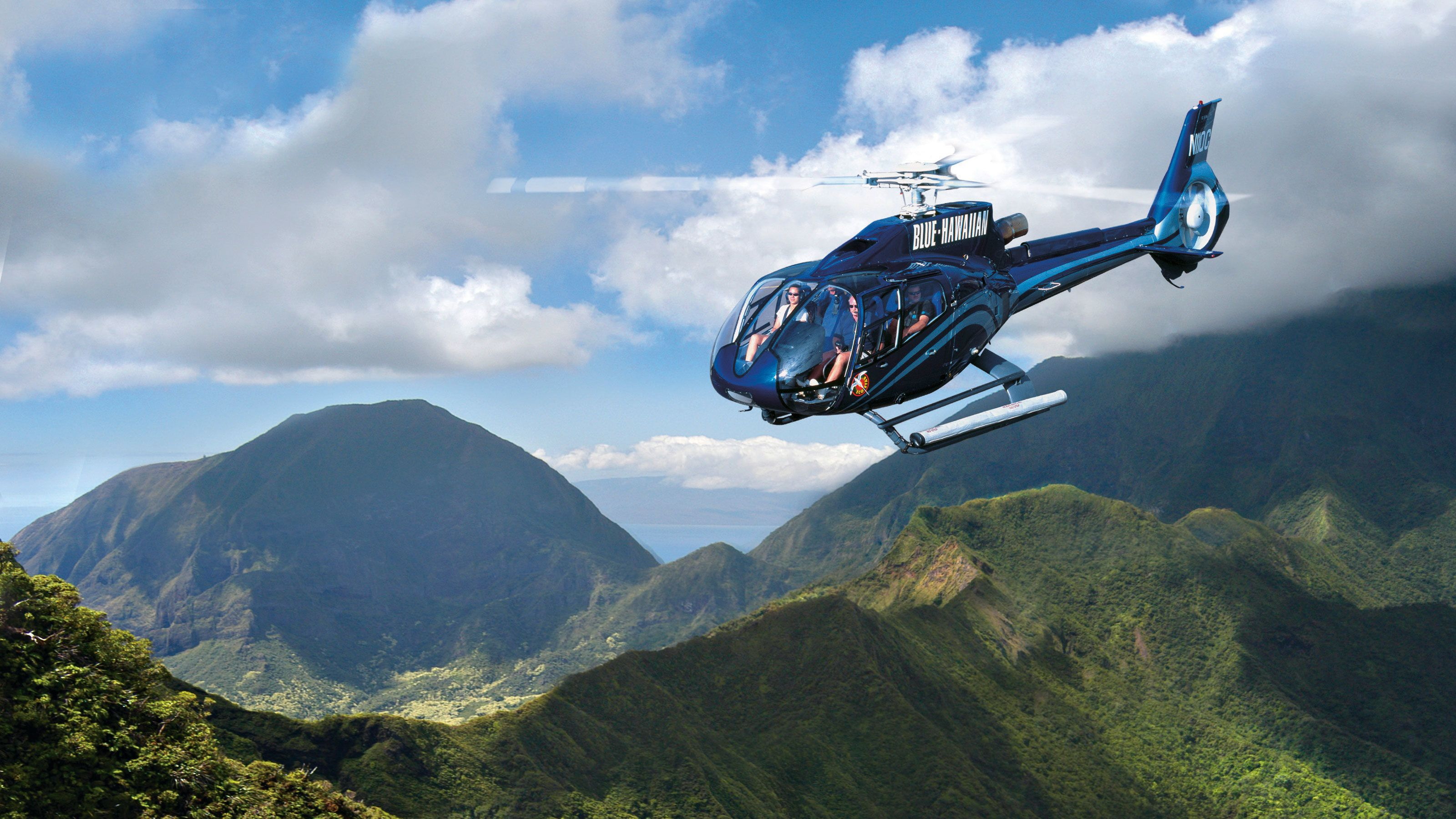 Fly in a Blue Hawaiian helicopter to experience spectacular views of Maui Mountains