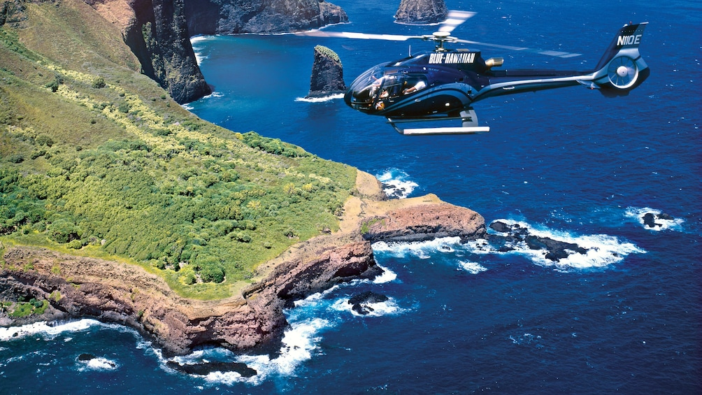 Show item 4 of 8. The Molokai Seacliffs Helicopter Tour in Maui