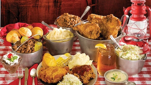 Southern food served at the Hatfield and McCoy Dinner Show