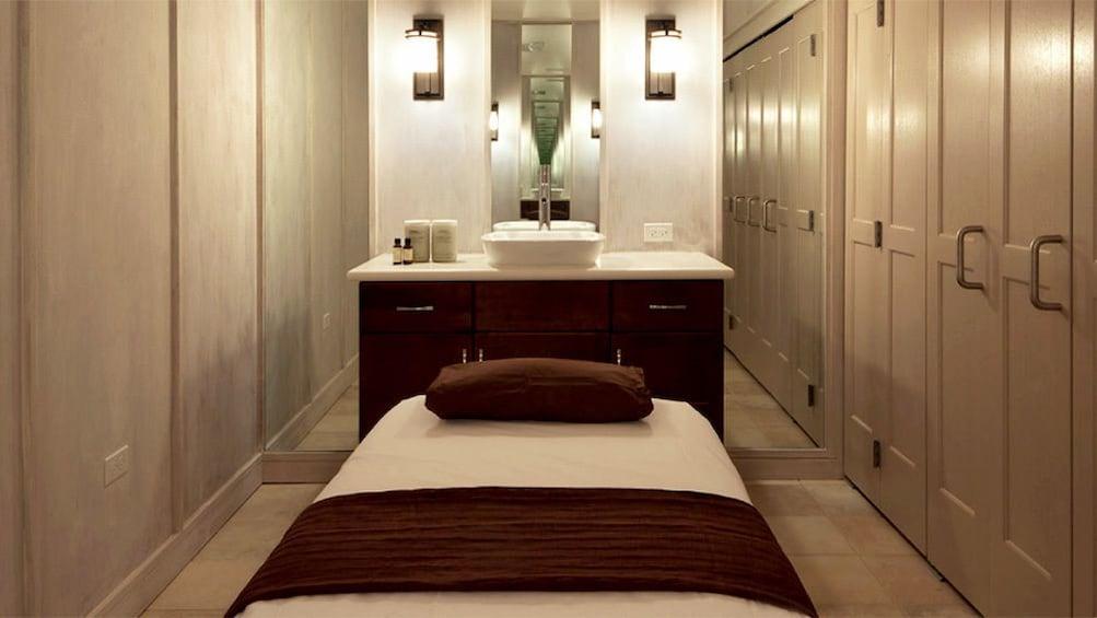 Massage bed at Royal Kaila Spa at the Marriott in Waikiki