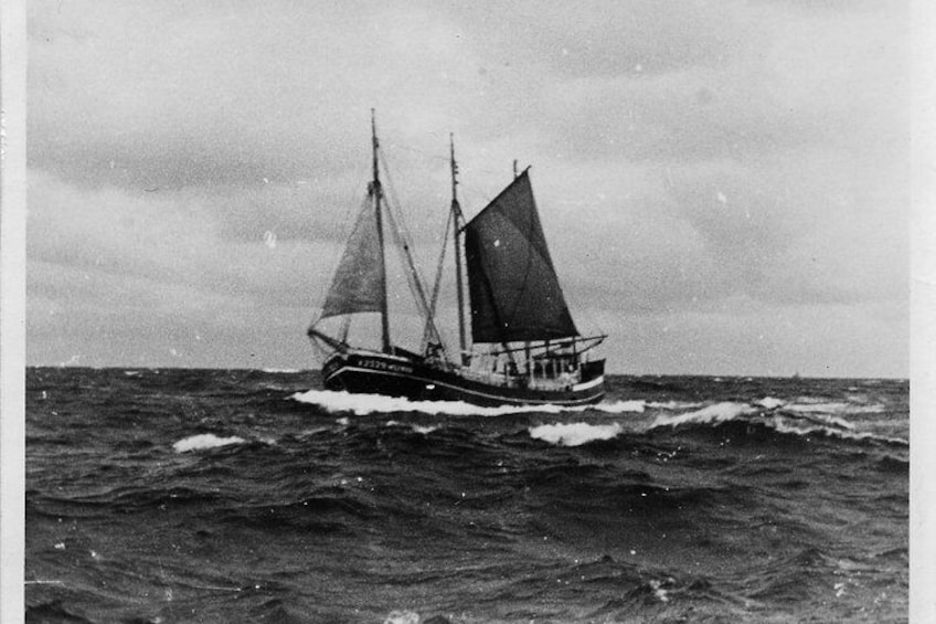 Show item 5 of 11. Kajama sailing before you were born in the Baltic Sea