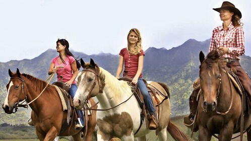 Ladies on horses in Kauai