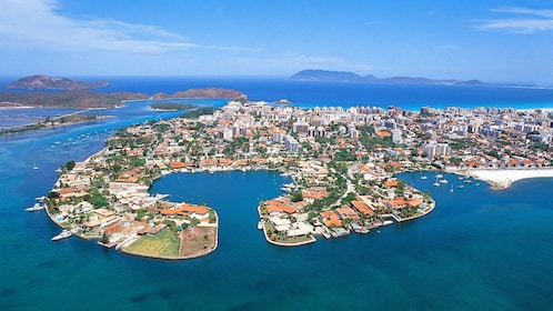 Aerial view of Cabo Frio