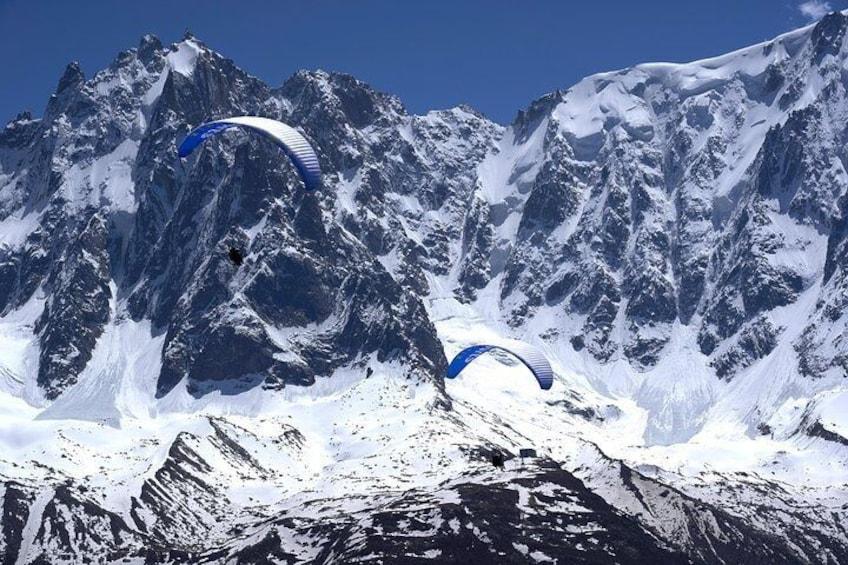 Paragliding Tandem Flight over the Alps in Chamonix