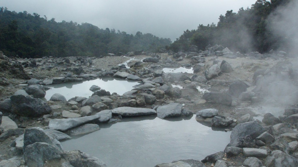 Close up view of hot springs.