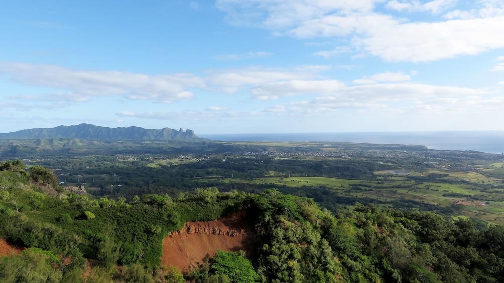 View from on top of Nounou Mountain on Kauai