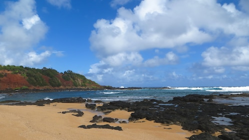 View of beautiful Kauai coastline.