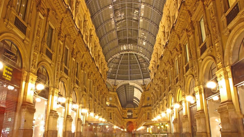 Show item 4 of 6. Interior view of Galleria Vittorio Emanuele II.