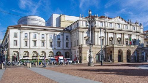 Exterior view of the historical Teatro alla Scala.
