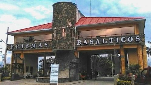 Basaltic Prisms of Santa María Regla park entrance.