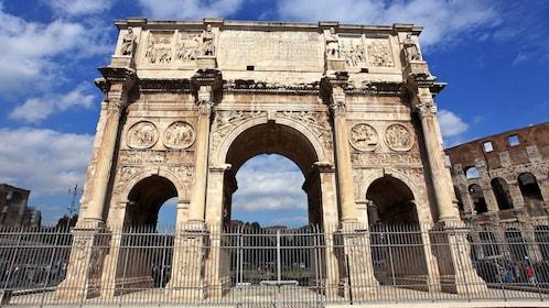 landmark on tour in rome