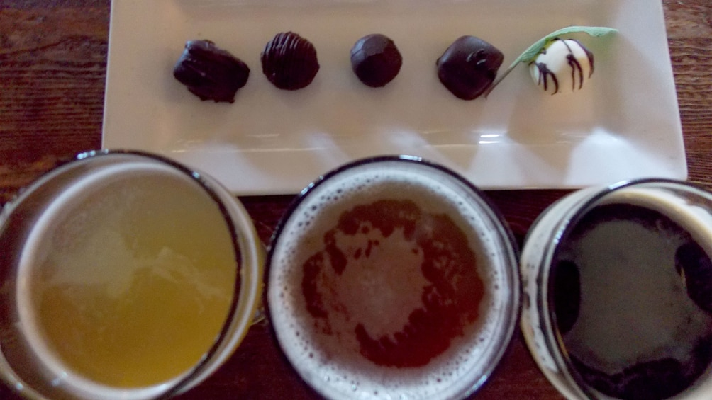 Show item 5 of 5. Flight of beer and chocolates in Victoria