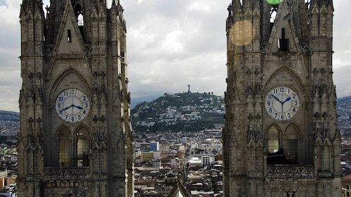 Twin clock towers in Quito