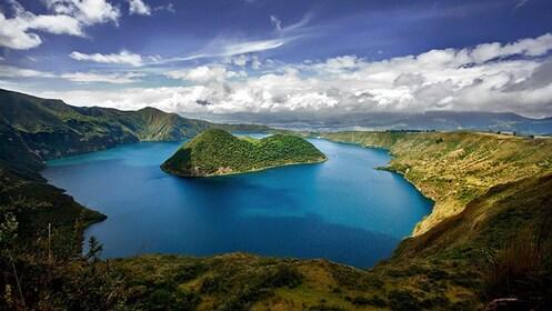 A mountain lake in Ecuador