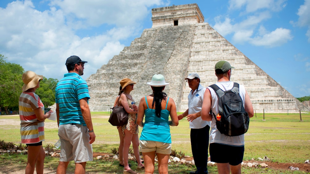 Show item 3 of 5. Chichen Itza ruins tour group